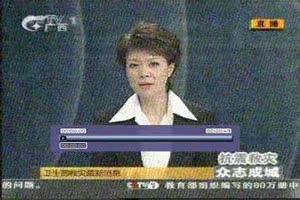 中央电视台报道手机报告疫情信息系统开通