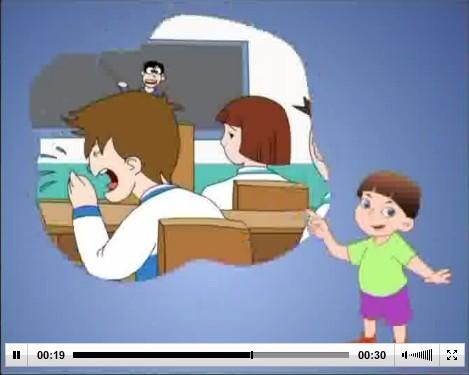 学生版动画公益广告系列——2学习健康课预防肺结核30秒公益广告